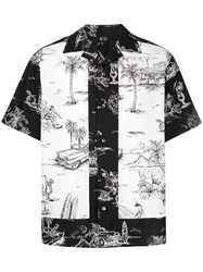 N 21 No21 Contrast Embroidered Shirt Black