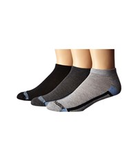 Steve Madden 3 Pack Athletic Low Cut 1 2 Cushion And Arch Support Heather Grey Blue Men's Low Cut Socks Shoes Gray