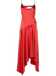 Fleur Du Mal Handkerchief Midi Dress Red