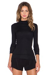 Atm Anthony Thomas Melillo Long Sleeve Mockneck Top Black