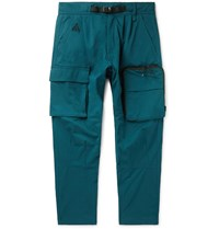 Nike Acg Nrg Tapered Belted Cotton Blend Twill Cargo Trousers Green