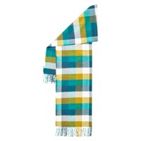 Hobbs Suzie Checked Scarf Deep Sea Blue