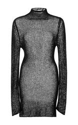 R 13 R13 Sheer Cashmere Sweater Black