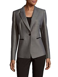 Lafayette 148 New York Stelly Solid Cotton Blazer Flint