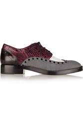 Alexander Wang Nathan Paneled Leather Brogues Red