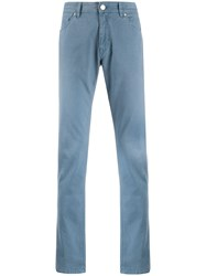 Pt05 Mid Rise Straight Jeans Blue
