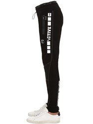 Philipp Plein Cotton Jersey Sweatpants Black
