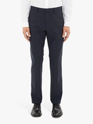 Theory Stretch Wool Tailored Suit Trousers Navy