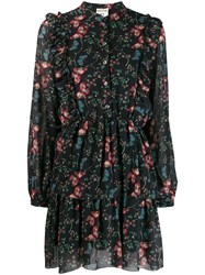 Semicouture Floral Day Dress Black