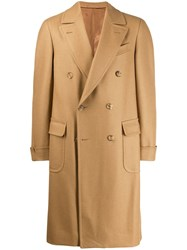 Caruso Double Breasted Coat Neutrals