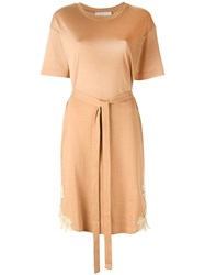 See By Chloe Belted T Shirt Dress Nude Neutrals