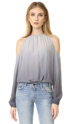 Ramy Brook Ombre Lauren Blouse Silver To Gunmetal