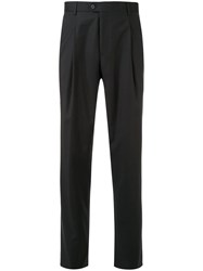 Gieves And Hawkes Mid Rise Straight Leg Trousers Black