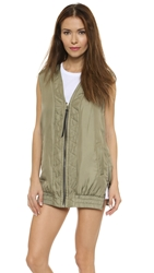Rag And Bone Zigzag Vest Vetiver