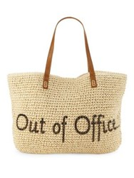 Straw Studios Out Of Office Conversation Tote Natural