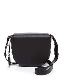 Mackage Rima Saddle Bag Crossbody Black Gunmetal
