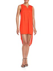 Daniel Rainn Solid High Low Hem Dress Orange