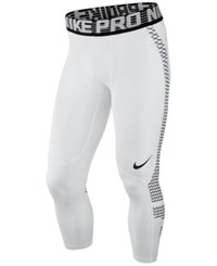 Nike Men's Pro Hypercool Cropped Compression Tights White