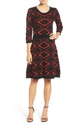 Taylor Dresses Women's Sweater Fit And Flare Dress