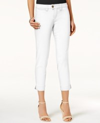 Jag Petite Creston Cropped Ankle Pants White