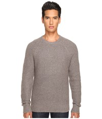 Jack Spade Shaker Stitch Ribbed Crew Neck Sweater Mink Men's Sweater Brown