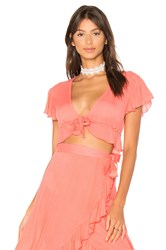 Lovers Friends Waves For Days Crop Top Pink