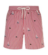 Polo Ralph Lauren Embroidered Boat Swim Shorts Male