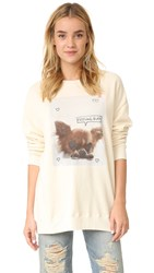 Wildfox Couture Feeling Ruff Sweatshirt Vanilla Latte