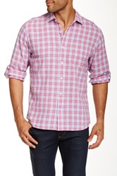 Toscano Plaid Long Sleeve Regular Fit Shirt Pink