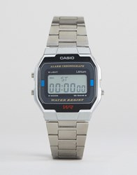 Casio A163wa 1Qes Digital Bracelet Watch In Silver Silver
