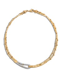 Bamboo 18K Gold And Diamond Loop Necklace John Hardy