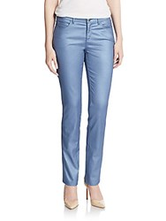 Lafayette 148 New York Frosted Straight Leg Jeans Riviera