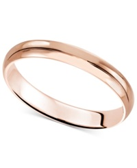 Macy's 14K Rose Gold Ring 3Mm Wedding Band