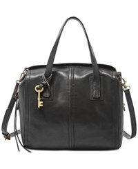 Fossil Emma Leather Satchel Black
