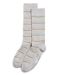 Happy Socks Men's Thin Stripe Light Pastel Gray