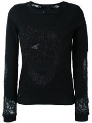Philipp Plein Butterfly Skull Jumper Black