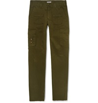 Michael Bastian Slim Fit Cotton Twill Cargo Trousers Green