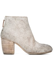 Marsell Cracked Design Ankle Boots White