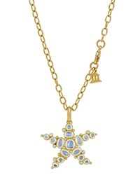 Temple St. Clair 18K Yellow Gold Medium Sea Star Pendant With Royal Blue Moonstone And Diamonds Gold Blue