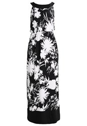 Anna Field Flower Maxi Maxi Dress White Black Off White