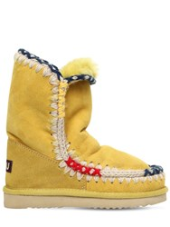 Mou 20Mm Eskimo Pop Shearling Boots Yellow
