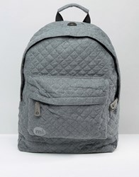Mi Pac Quilted Backpack Grey Quilted