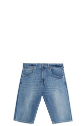 7 For All Mankind Regular Shorts Blue