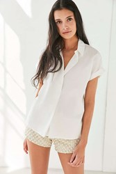 Silence And Noise Popover Collared Blouse White