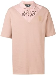 Fred Perry Raf Simons X Embroidered Logo T Shirt Pink