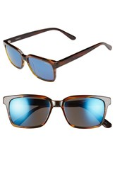 Men's Randolph Engineering 'Milton' 54Mm Sunglasses Brown Blue Flash Mirror