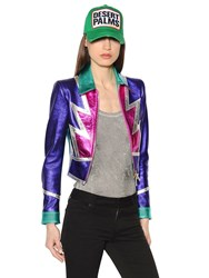 Dsquared Patchwork Nappa Leather Jacket