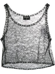 Chanel Vintage 2000'S Lace Cropped Top Black