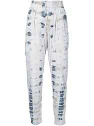 Raquel Allegra Tie Dye Tapered Trousers Blue