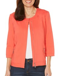 Rafaella Solid Satin Twill Jacket Bright Coral